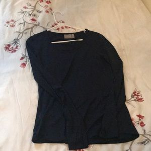 Navy mesh athleta long sleeve